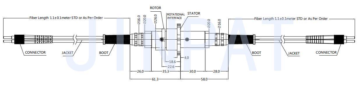 LPFO-04N-Afiber optic rotary joints